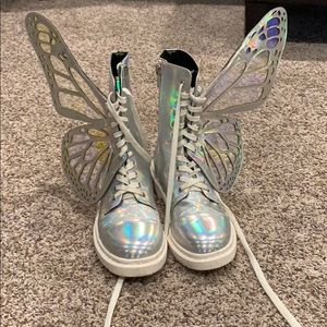 Butterfly combat boots